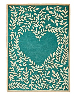 Heart Leaf Trail Wool Rug Large