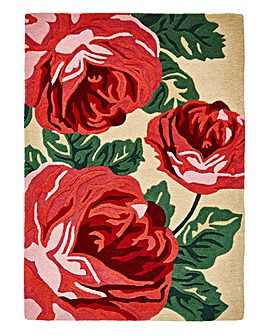 Bold Floral Wool Rug