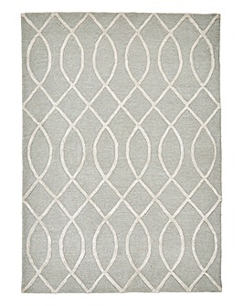 Wool & Viscose Waves Rug