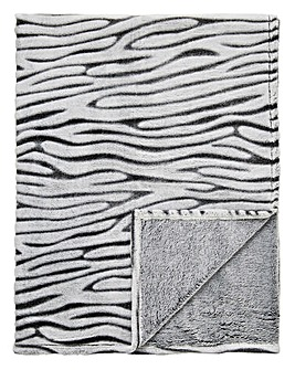 Cascade Zebra Fleece Throw