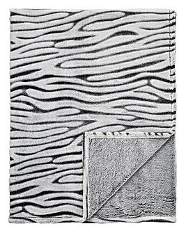 Cascade Zebra Fleece Throw