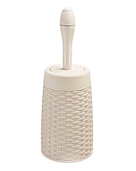 Addis Faux Rattan Toilet Brush & Holder