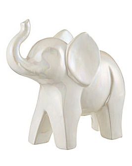 Pearlised Elephant Ornament