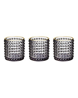 Set of 3 Bubble Tea Light Holders
