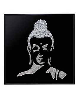 Black Gliss Buddha Glitter Wall Art