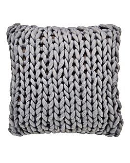 Chunky Knitted Cushion