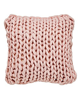 Chunky Knitted Cushion