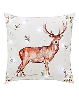 Winter Stag LED Cushion