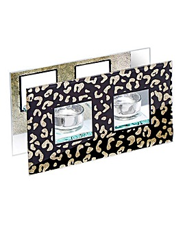 Wild Side Glitter Double Tealight Holder