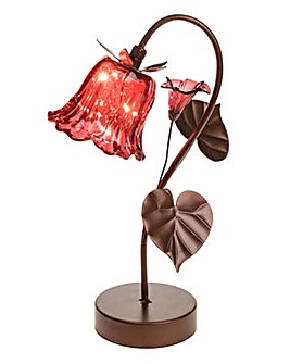 Soft Glow LED Ruby Tulip Hanging