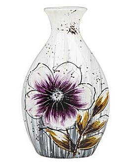 Bright Blooms Bottle Vase Purple