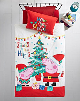 Peppa Noel Single Panel Duvet