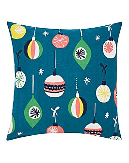 Retro Bauble Cushion
