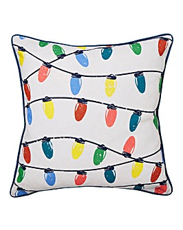 Retro String Lights Cushion