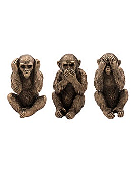 Bronze 3 Wise Monkeys