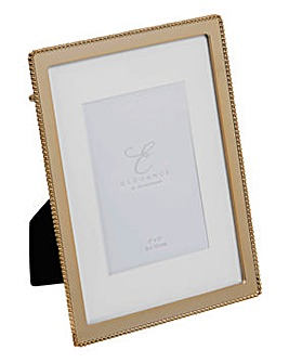 Elegance Gold Finish Beaded Edge Frame