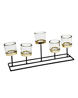 Hestia 5 Glass Tealight Holder on Stand