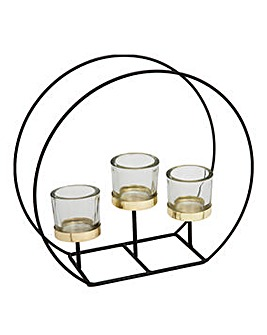 Hestia 3 Glass Tealight Holder on Stand