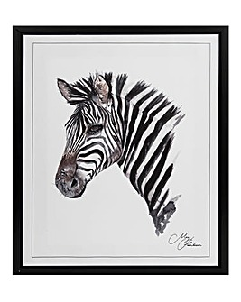 Meg Hawkins Framed Wall Art - Zebra