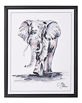 Meg Hawkins Framed Wall Art - Elephant