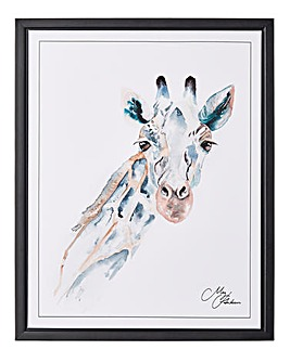 Meg Hawkins Framed Wall Art - Giraffe