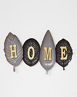 Home Leaf Metal Wall Art