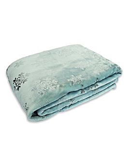 Frozen Snowflake Fleece Throw