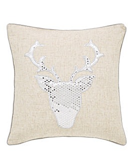 Stag Sequin Cushion