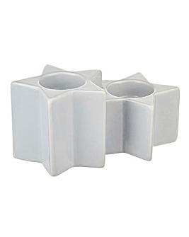 Double Star Tealight Holder Set of 4