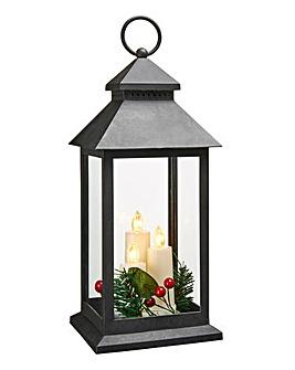 Light Up Lantern with LED Candle