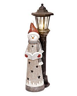 Light Up LED Snowman Figurine
