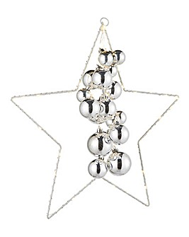 Metal Star with 60 LED