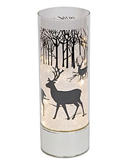 Glass LED Light Up Tube Vase - Reindeer