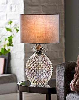 Iridescent Glass Base Table Lamp