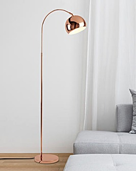 Copper Arc Floor Lamp