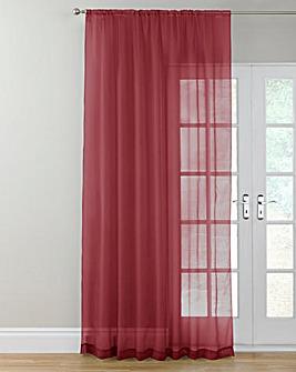 Plain Dyed Voile Slot Top Single Panel