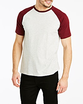 Wine/Ecru Raglan T-Shirt Long