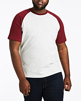 Wine/Ecru Raglan T-Shirt