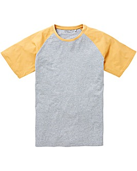 Mustard/Grey Raglan T-Shirt Long