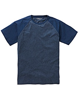 Denim/Navy Raglan T-Shirt Long