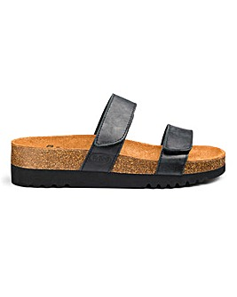 Scholl Luska Flatform Sandals E Fit
