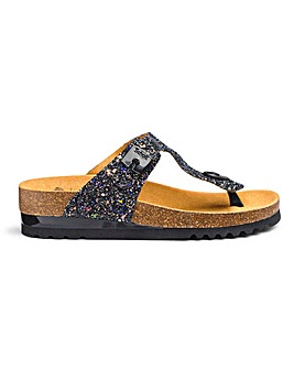 Scholl Glam Glitter Sandals E Fit