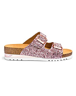 Scholl Glam Glitter Double Strap E Fit