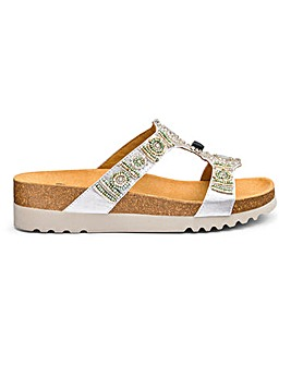 Scholl New Bogota Wedge Embellished Sandals Wide E Fit