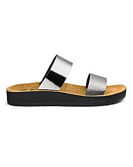 Scholl Cinthia Slider Sandals E Fit