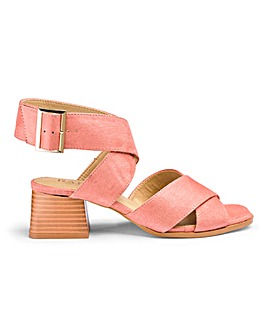 Raid Abha Ankle Strap Block Heel Sandals Wide E Fit