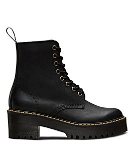Dr. Martens Shriver 8 Eye Block Heels Boots Standard Fit