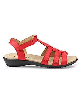 Hotter Sol Touch and Close Sandals Standard D Fit
