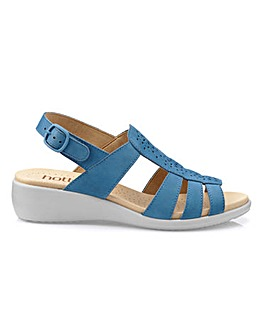 Hotter Athens Sling Back Wedge Sandals Standard D Fit