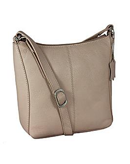 Blousey Brown Genuine Leather Crossbody Shoulderbag